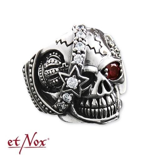 "etNox - Ring ""Machine Skull 2"" Edelstahl"