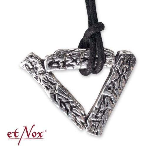 """etNox-Anhänger """"Dreieck"""" Bronze versilbert"""