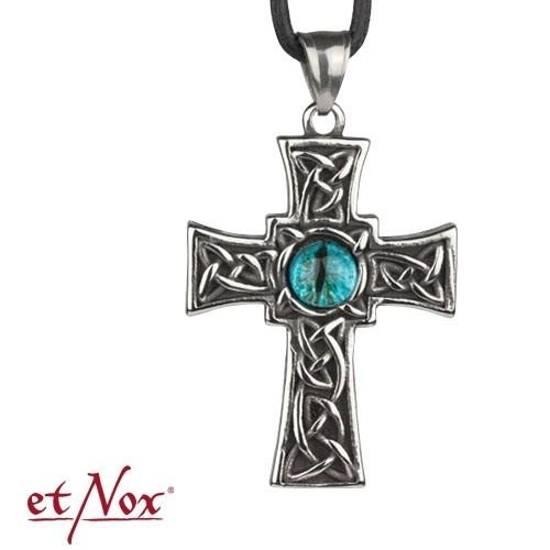 """etNox Anhänger """"Eyed Cross"""" Edelstahl"""