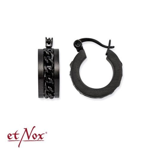"etNox - Ohrringe ""Mesh Steel"" Edelstahl schwarz"