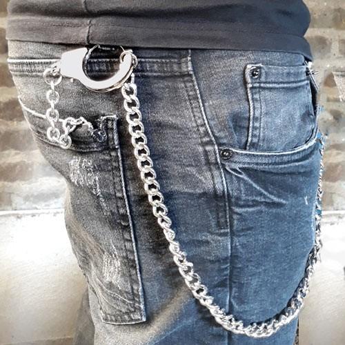 """etNox Schlüssel- oder Portemonnai-Kette """"Handschellen"""""""