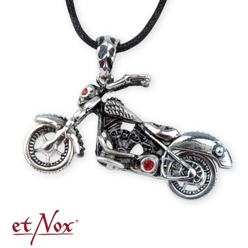"etNox - Anhänger ""Motorbike"" Edelstahl mit Zirkonia"