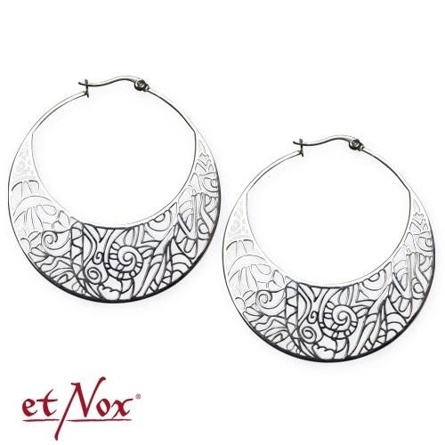 "etNox - Ohrringe ""Ornament"" Edelstahl"