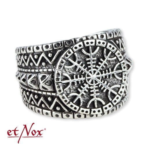 """etNox-Ring """"Eagershelm"""" 925er Silber"""