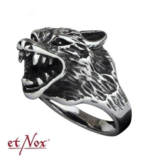 """etNox - Ring """"Wolf"""" Edelstahl"""