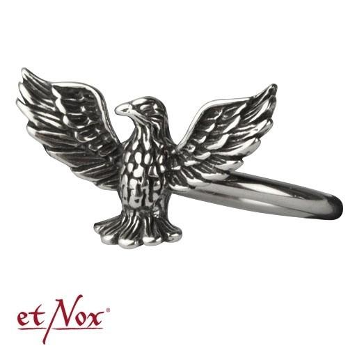 """etNox Edelstahlring """"Adler"""""""