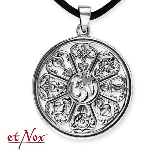 """etNox-Anhänger """"Om"""" 925 Silber"""
