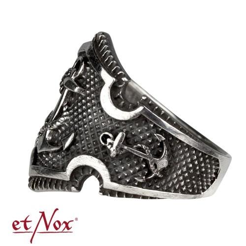 """etNox - Ring """"Anker"""" 925 Silber"""