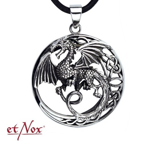 "etNox - Anhänger ""Keltischer Drache"" Edelstahl"