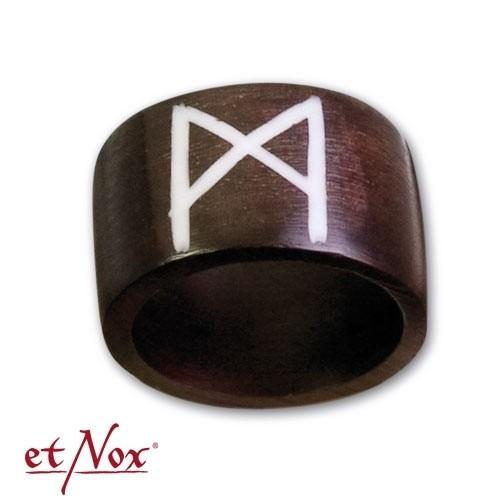 """etNox-Ring """"MAN-Rune"""" Holz"""