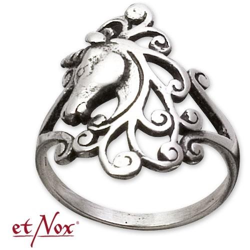 """etNox - Ring """"Einhorn"""" 925 Silber"""