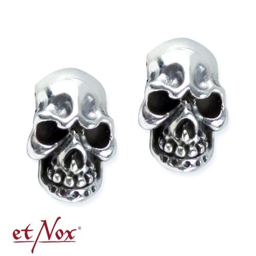 """etNox Ohrstecker """"Evil Skull"""" 925 Silber"""