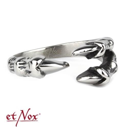 "etNox - Ring ""Klaue"" Edelstahl"