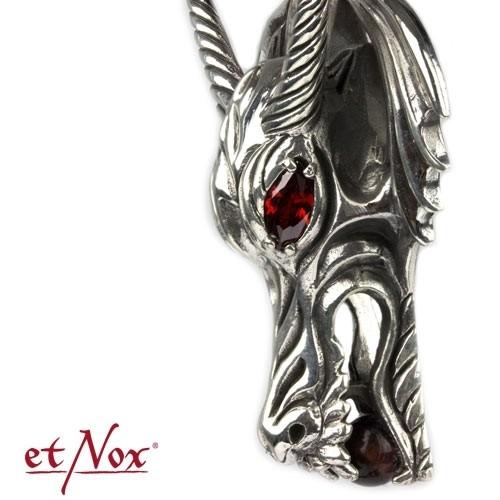"""etNox - Anhänger """"Dragon´s Head"""" 925 Silber"""