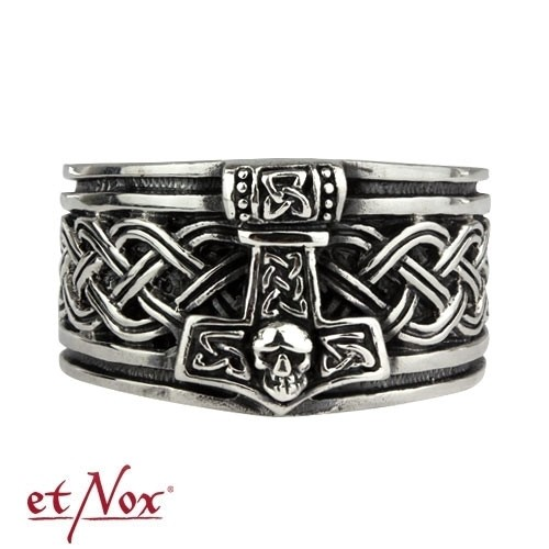 "etNox - Ring ""Thors Hammer"" Edelstahl"