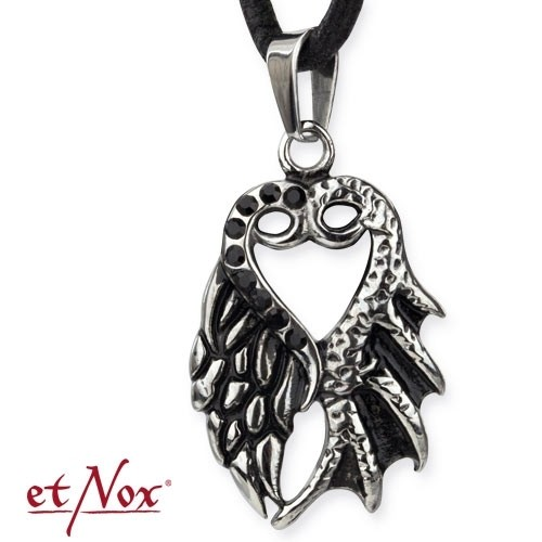 """etNox-Anhänger """"Heart with Wings"""" Edelstahl"""