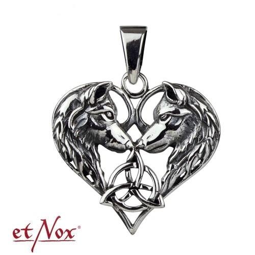 """etNox - Anhänger """"Wolfsherz"""" 925er Silber"""