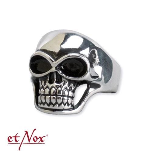 """etNox - Ring """"Skull"""" Edelstahl"""