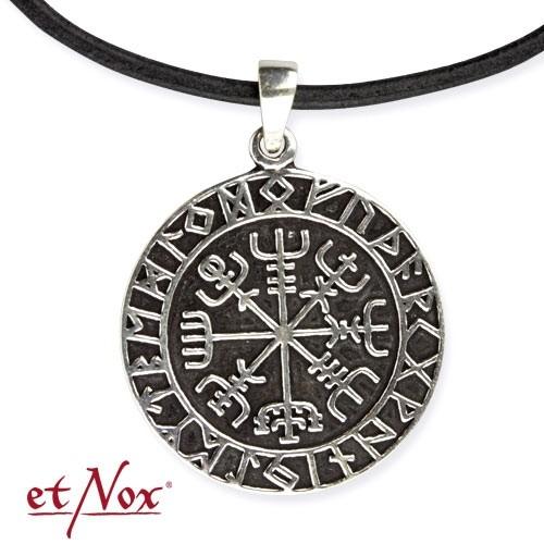 """etNox-Anhänger """"Wikinger Kompass"""" 925er Silber"""