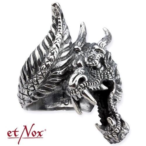 "etNox - Ring ""Drache"" Edelstahl"