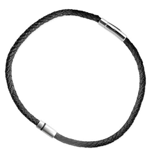 """LuxXL """"HIM"""" Edelstahlanhänger mit schw. Lederband 50 cm"""