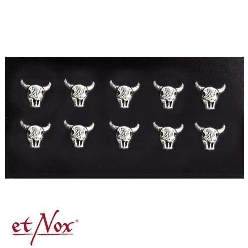 """etNox - Ohrstecker """"Buffalo Skull"""" 925 Silber"""
