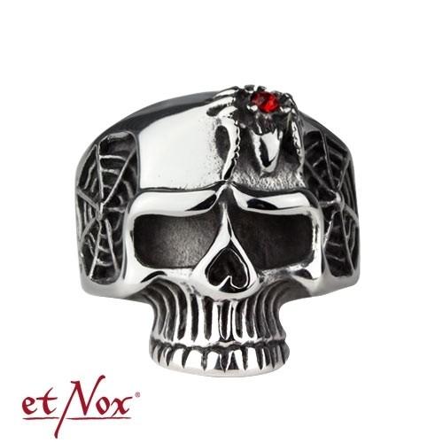 """etNox - Ring """"Totenkopf"""" Edelstahl"""
