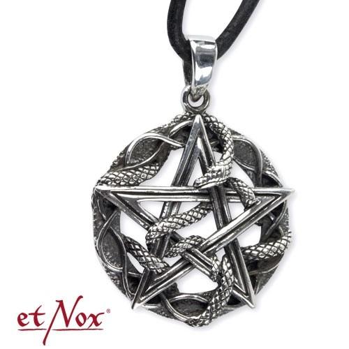 "etNox - Anhänger ""Schlangen-Pentagramm"" Edelstahl"