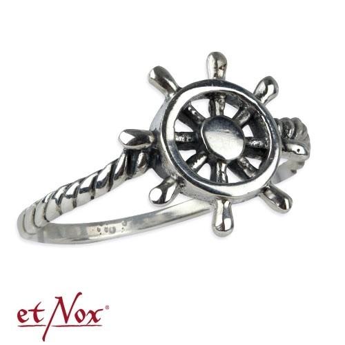 """etNox - Ring """"Steuerrad"""" 925 Silber"""