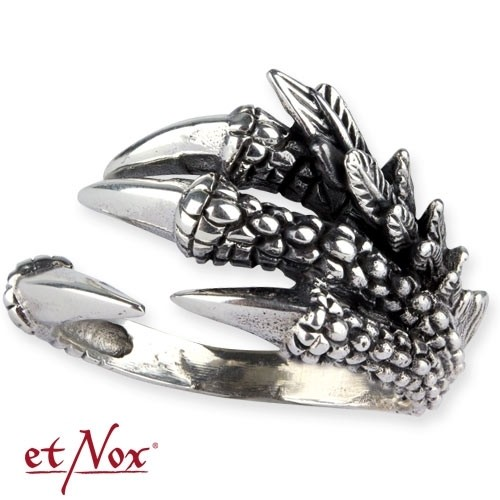 "etNox - Ring ""Dragon Claw"" 925 Silber"