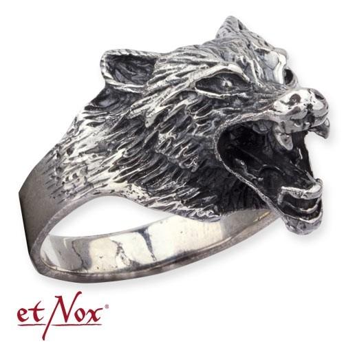 """etNox - Ring """"Wolf"""" 925 Silber"""