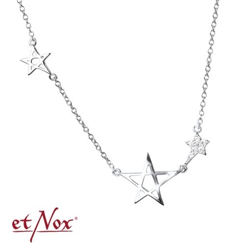 "etNox Silberkette ""Pentagramme"" mit Zirkonia"
