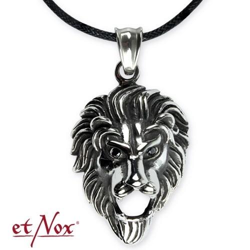 """etNox Anhänger """"Lion"""" Edelstahl"""