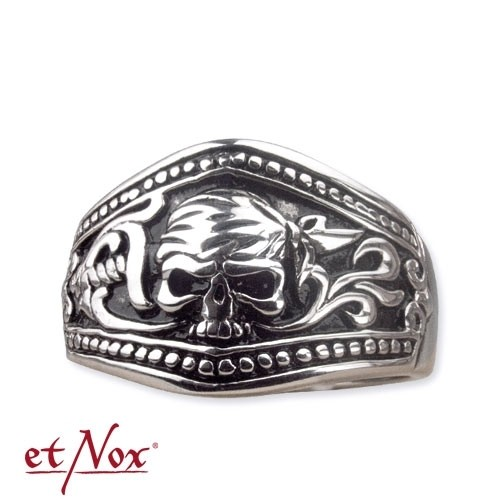 "etNox - Ring ""Pirate Skull"" Edelstahl"