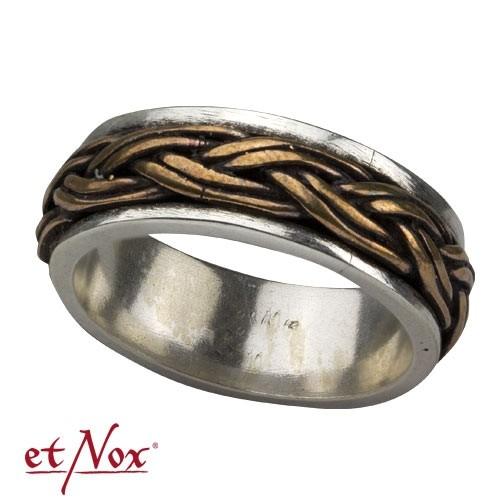 """etNox-Ring """"Keltischer Knoten"""" 925 Silber mit Bronze"""