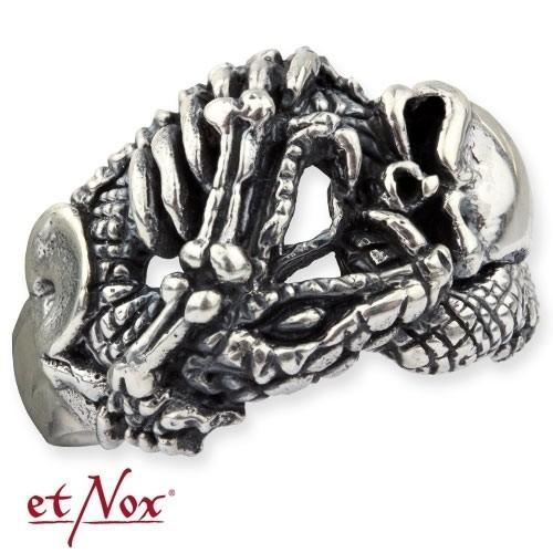 """etNox - Ring """"Twisted Skull"""" 925 Silber"""