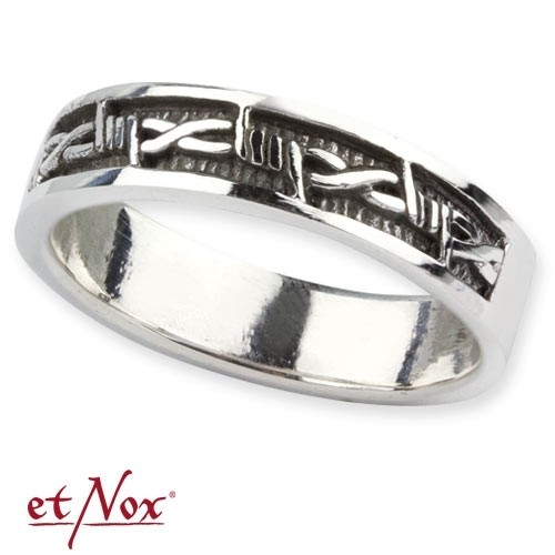 """etNox - Ring """"Barbed Wire"""" 925 Silber"""