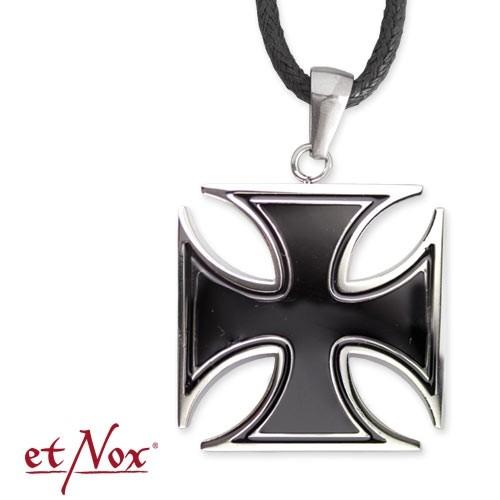 """eNox-Anhänger """"Black Iron Cross"""" Edelstahl"""