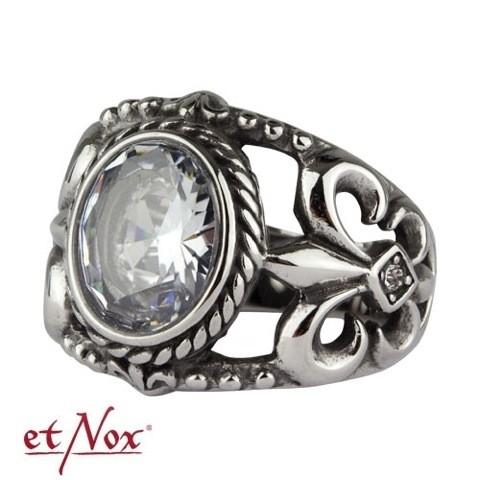 """etNox - Ring """"Royal Crystal"""" Edelstahl mit Zirkonia"""