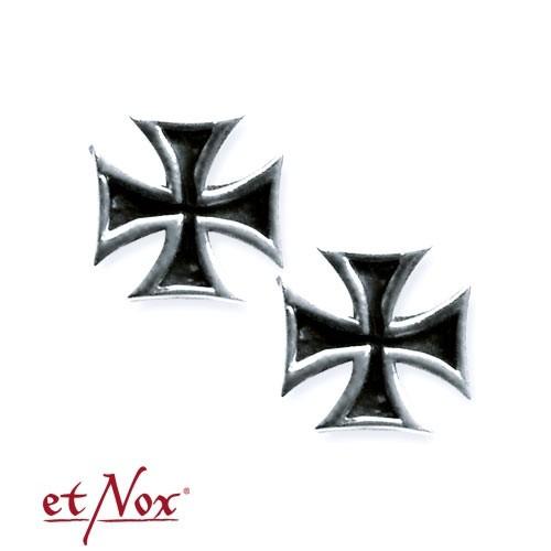 """etNox - Ohrstecker """"Iron Cross"""" 925 Silber"""