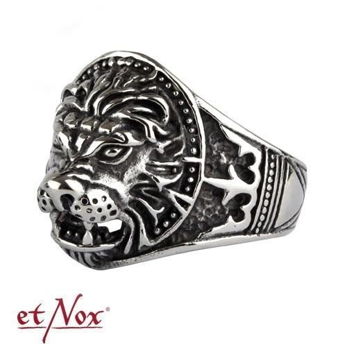 "etNox - Ring ""Löwe"" Edelstahl"