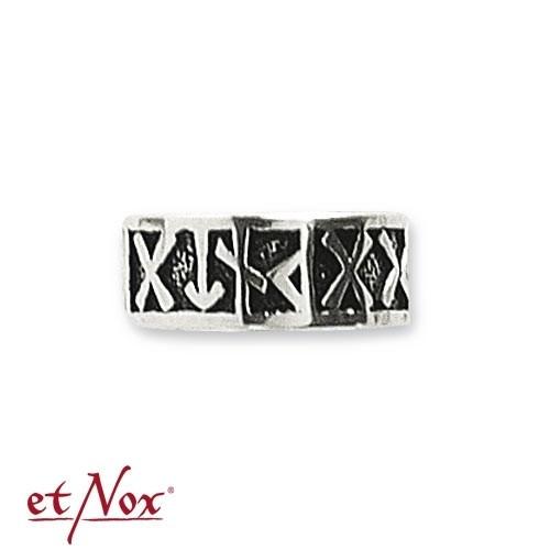 "etNox-Ring ""Runenring"" Bronze versilbert"