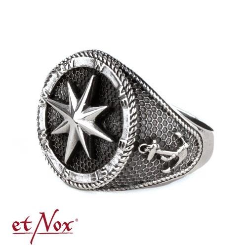 "etNox - Ring ""Kompass"" 925 Silber"