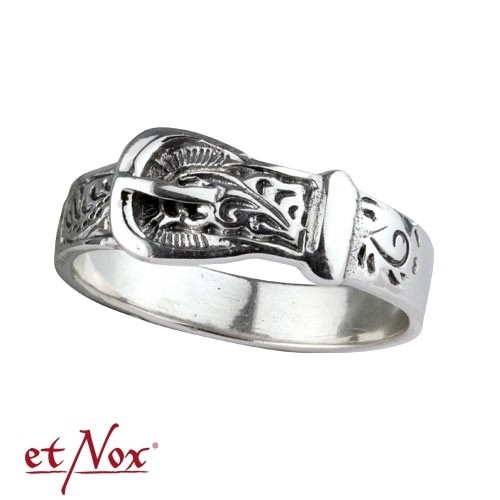 "etNox - Silberring ""Ornament Belt"""