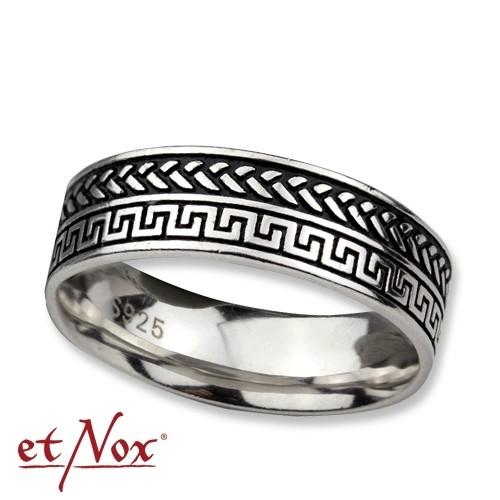 """etNox - Ring """"Meander"""" 925 Silber"""