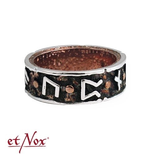"""etNox-Ring """"Draupnir"""" Bronze teilversilbert"""