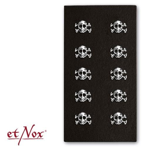 "etNox - Ohrstecker ""Pirate Skull"" 925 Silber"