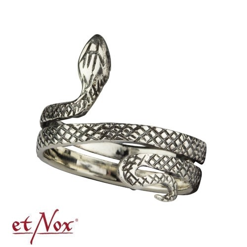 "etNox - Ring ""Schlange"" 925 Silber"