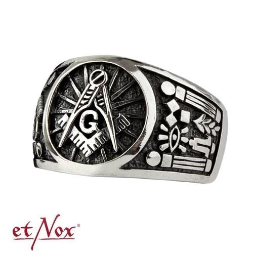 """etNox - Ring """"Freimaurer"""" 925 Silber"""