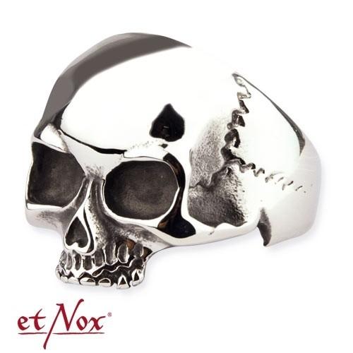 """etNox - Ring """"Simple Skull"""" Edelstahl"""